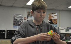 Students show off their Rubik's Cube skills