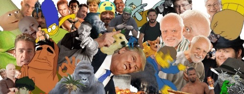 A collage of memes.