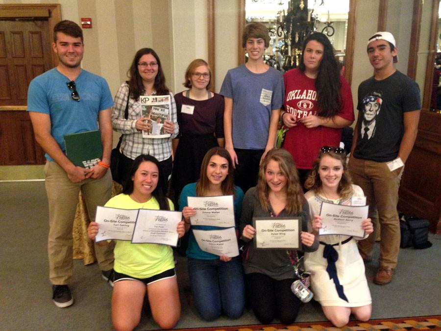During the TAJE Fall Fiesta in San Antonio, journalism students attended sessions and competed in a variety of events. Students who attended included: John Carl Boudreaux, Sydney Woodward, Emily Humble, Michael Horton, Mackenzie Kisslinger, Chris Luck, Tori Gatling, Emma Waller, Kylee Wing and Madison Berry.