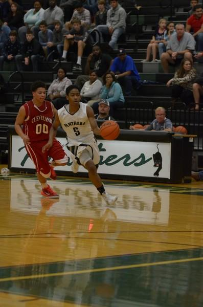 Varsity boys basketball team has a close win over Cleveland  Indians on Monday December seventh.