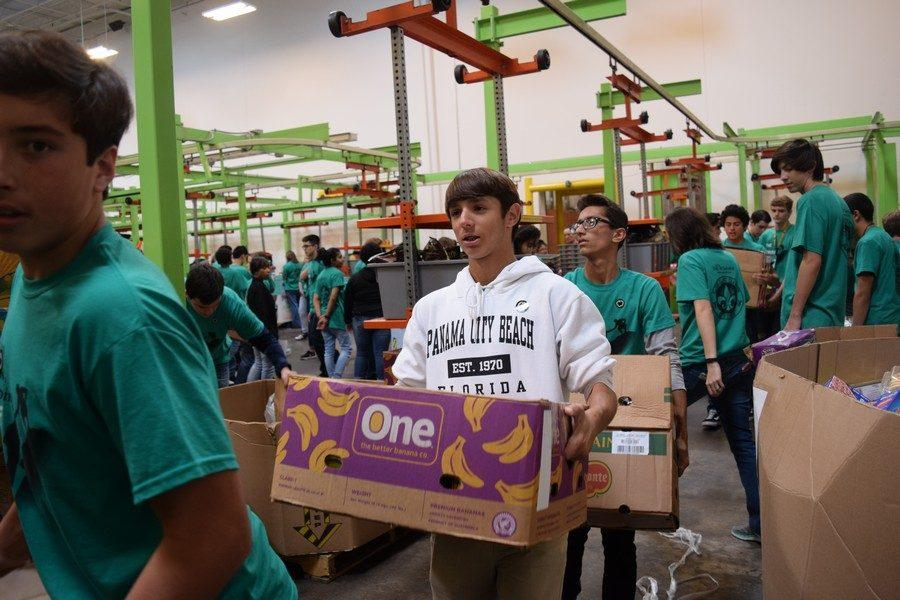 K-Park students at the Houston Food Bank during Day of Service, Nov. 15.