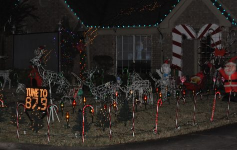 A house in Greentree Village is one of many Kingwood homes decorated for Christmas. Lights, reindeer, a video of Santa and holiday music add to the seasonal flavor.
