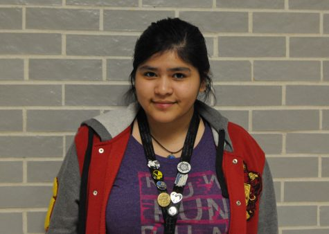 Senior and choir member Julia Rivera is an accomplished singer.