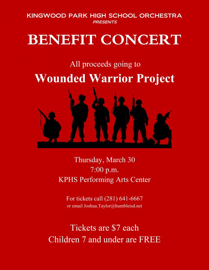 The flyer for orchestra's benefit concert. Photo courtesy Joshua Taylor.
