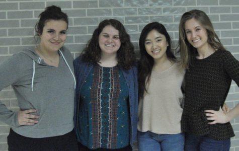 Seniors Helena Vassiliades, Carleigh Pollock, Emmelyn Nguyen, and Nina Arntsen attended TMEA 2017.