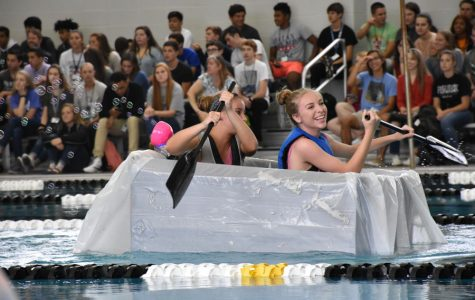 AP Physics puts cardboard boats to the test