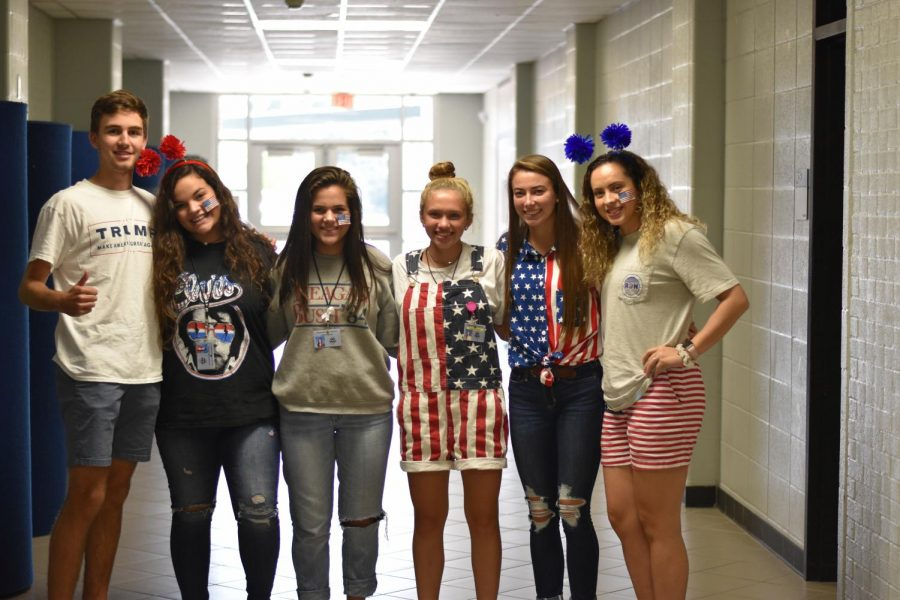 Students+participate+in+various+theme+days+throughout+the+week.+Monday+was+%27Merica+Day.+