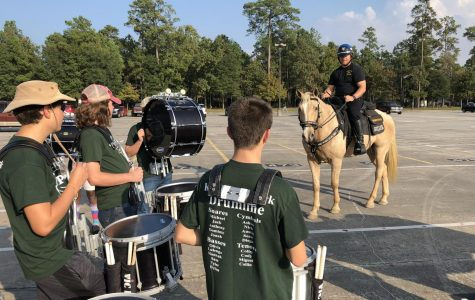 Drumline plays role in training HPD horses