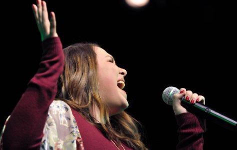 Brooke Searcy competes for a spot to sing at the Humble Rodeo