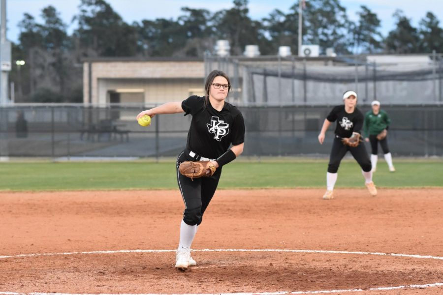 Junior Ronni Grofman pitches in the team's first scrimmage of the year on Jan. 29. Grofman was a key contributor on last year's team, which reached the third round of the playoffs.
