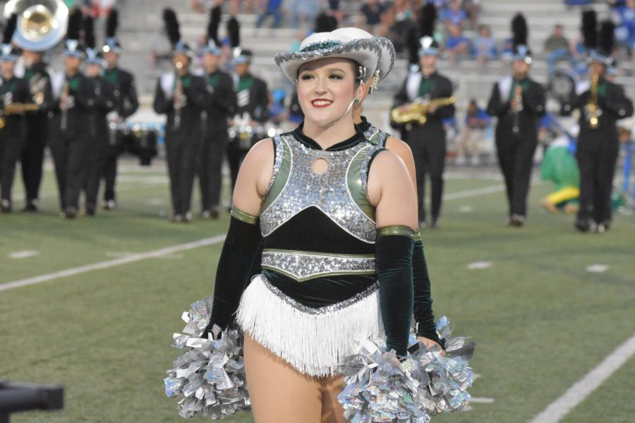 Sophomore Emily Blizman dances through the pain with the Silver Stars.