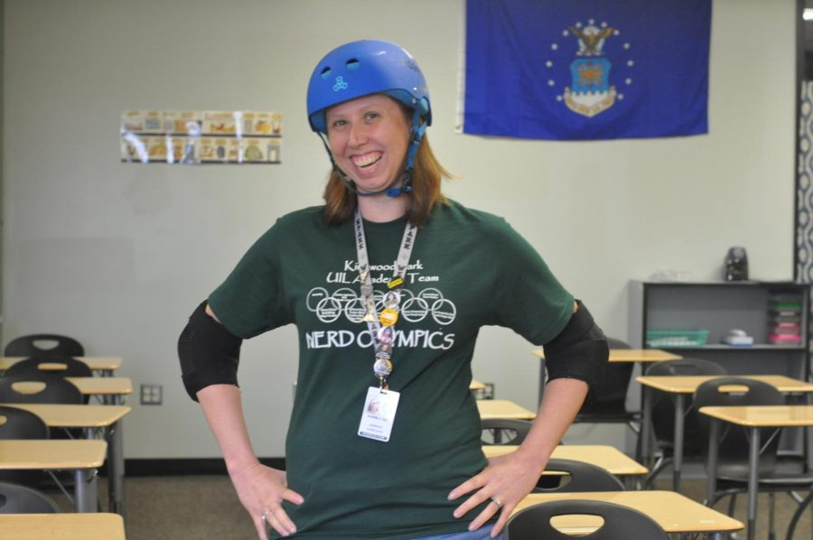 History teacher Jennifer Danielson loves roller derby despite the injuries she suffered while competing.