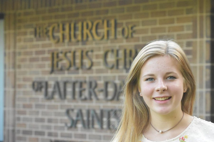 Sophomore Cali Burningham is an active member of the Church of Jesus Christ of Latter-Day Saints.