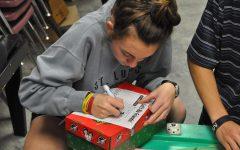 Operation Christmas Child shoebox packing