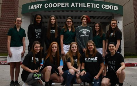 A number of freshmen on the winter sports teams have made an early impact in competition. Some of the freshmen on the basketball, soccer, golf and swim teams are pictured above. Front Row: Carlie Solomon, Emma Yeager, Grace Byrd, Abigail Hunt, Matti McDaniel. Back Row: Camille Blair, Biva Byrd, Reagan Reville, Kaitlyn Neel, Nora Critzer, Taylor Netherly, Renee Alcala.