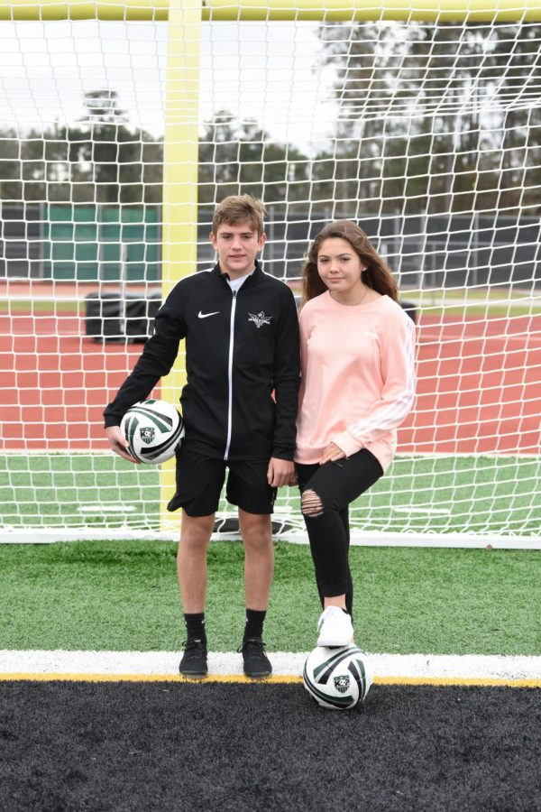 Sophomore Trey Ricker and his sister, freshman Bailey Ricker, have used their love for soccer to help them adjust to life in the U.S. after six years in Qatar.