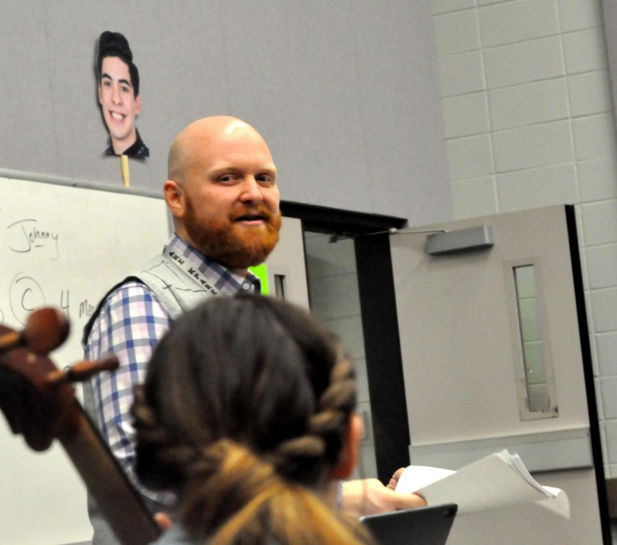 Orchestra teacher Josh Taylor helped lead his group to a number of honors throughout the year.