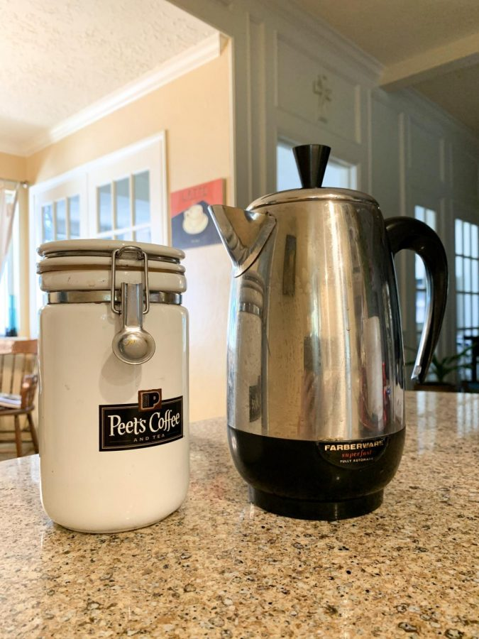 The coffee maker is from my Dad's college days in the '80s. I have been making a lot of coffee and experimenting with different types of caffeinated drinks. I have used it almost daily. At this rate, I could open my own coffeehouse.