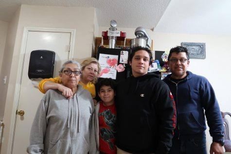Richard Rivera, along with his grandma, mom, dad and little brother, dealt with COVID-19 in November. Rivera has been a virtual student this year.