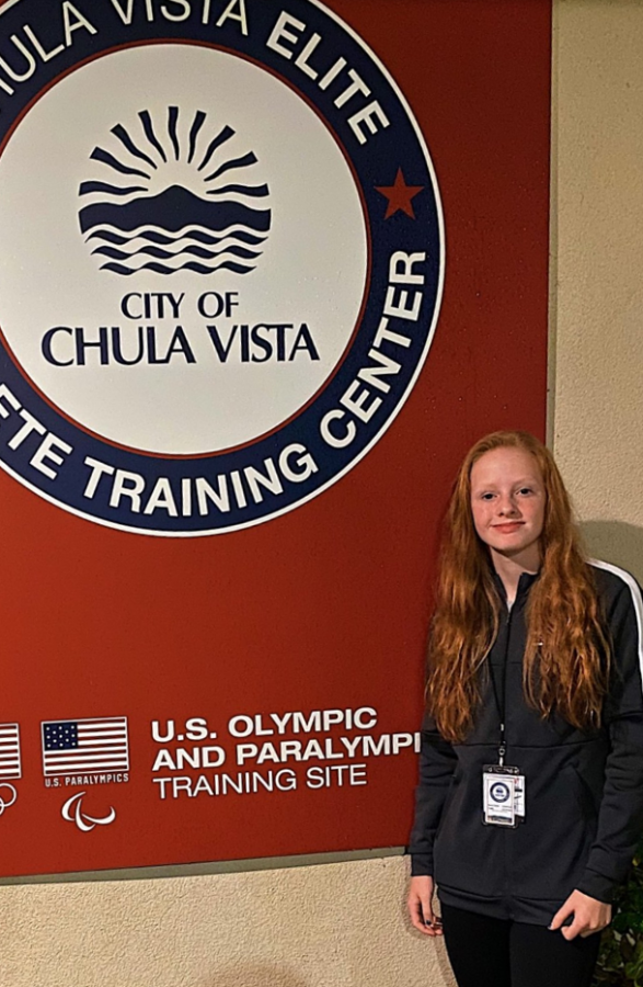 Sophomore Emma Yeager has trained at the US Olympic Training Center in California. She received her first Division I college offer to play soccer when she was in 8th grade.